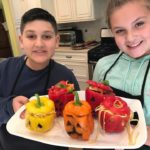 Halloween Theme Stuffed Peppers