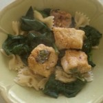 Fish Florentine Over Noodles