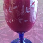 Morning Juice: Beets, orange, ginger, parsley and kale
